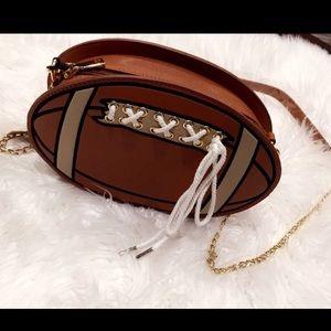 Handbags - Football crossbody purse!! Brand new!!